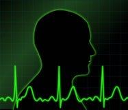 elektryczna aktywność ludzka ilustracja wektor
