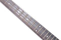 Elektryczna Basowej gitary szyja odizolowywająca na białym tle Obrazy Royalty Free