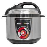 Elektryczna ciśnieniowa kuchenka odizolowywająca na bielu Obraz Royalty Free