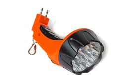 Elektryczna do naładowania dowodzona latarka Fotografia Stock