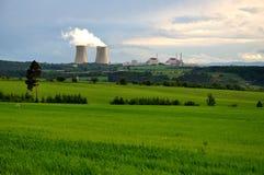 elektryczna elektrownia jądrowa Obrazy Stock