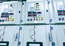 Elektryczna energetyczna podstacja Obrazy Stock