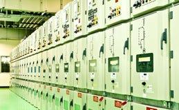 Elektryczna energetyczna podstacja Zdjęcia Stock