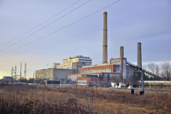 elektryczna fabryka Zdjęcia Royalty Free