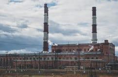 Elektryczna i termiczna energetyczna roślina Obrazy Stock