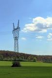 Elektryczna kolumna po środku lasu Obraz Royalty Free