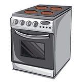 Elektryczna kuchenka royalty ilustracja