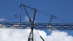 Elektryczna linia chmurnieje timelapse zdjęcie wideo