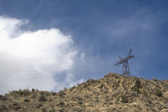 elektryczna linia wierza Fotografia Stock