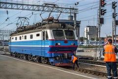 Elektryczna lokomotywa CHS2K Fotografia Royalty Free