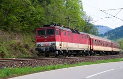 Elektryczna lokomotywa 162 005-3 - Słowackie koleje obrazy stock