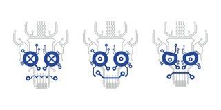 Elektryczna plan czaszka zdjęcia royalty free