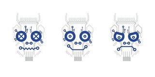 Elektryczna plan czaszka Zdjęcie Royalty Free