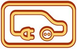 Elektryczna pojazd ikona Zdjęcia Royalty Free