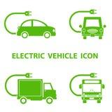 Elektryczna pojazd ikona Fotografia Stock