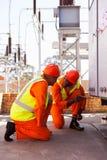 Elektryczna pracownik podstacja Obraz Royalty Free