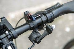 Elektryczna roweru sterowania zmiana Obrazy Royalty Free