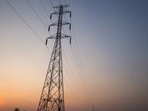 Elektryczna słup struktura Zdjęcia Royalty Free