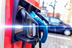 Elektryczna samochodowa ładuje stacja Obraz Royalty Free
