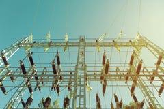 Elektryczna transformator stacja Fotografia Stock