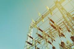 Elektryczna transformator stacja obrazy royalty free