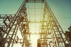 Elektryczna transformator stacja obrazy stock
