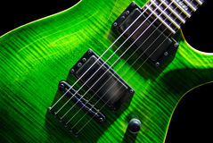 elektryczna zielona gitara Fotografia Royalty Free