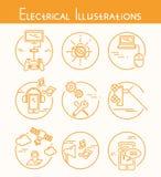 Elektryczne ilustracje ilustracja wektor