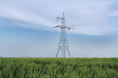 elektryczne linie energetyczne Fotografia Stock