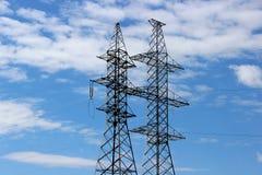 Elektryczne linie energetyczne Fotografia Royalty Free