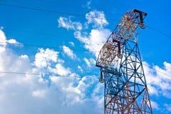 elektryczne linie słup władza Obraz Stock