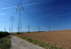 elektryczne linie władza Obraz Royalty Free