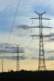 elektryczne linie władza Fotografia Stock
