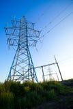 elektryczne linie władza Obrazy Stock