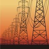 elektryczne linie władza Obraz Stock