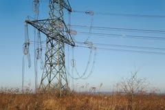 Elektryczne linie załamywać się obraz royalty free