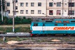 Elektryczne lokomotywy Sinara Fotografia Royalty Free