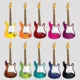 Elektryczne muzyczne gitary dla skały n staczają się muzykę royalty ilustracja