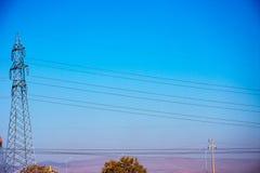 Elektryczne przekaz linie, drut w Afyon i Obrazy Royalty Free