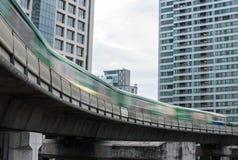 Elektrycznego pociągu miękka ostrość Obraz Royalty Free