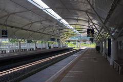 elektrycznego pociągu usługa ETS stacja w Taiping, Perak, Malezja Obrazy Stock