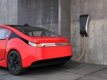 Elektrycznego pojazdu ładuje stacja dla domu obrazy stock