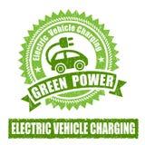 Elektrycznego pojazdu Ładuje znaczek Zdjęcie Royalty Free