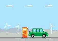 Elektrycznego samochodu ładunek Obrazy Royalty Free