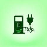 Elektrycznego samochodu ładuje staci szyldowa ikona Obraz Stock