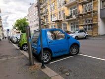 Elektrycznego samochodu ładuje stacja w Oslo Obrazy Stock