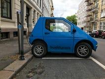 Elektrycznego samochodu ładuje stacja w Oslo Obraz Stock