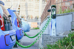 Elektrycznego samochodu wolkswagena e-Up Obraz Royalty Free