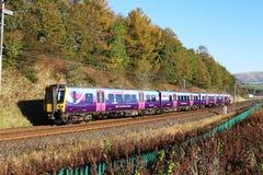Elektrycznego wieloskładnikowego jednostka pociągu zachodniego wybrzeża Główna linia Obraz Royalty Free