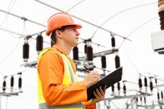 Elektrycznego inżyniera elektrownia Fotografia Royalty Free